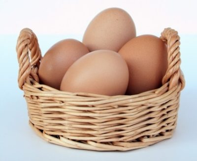 ゆで卵の準備